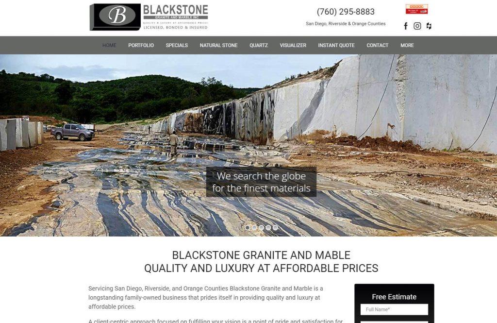 blackstone San Diego countertop fabricator website