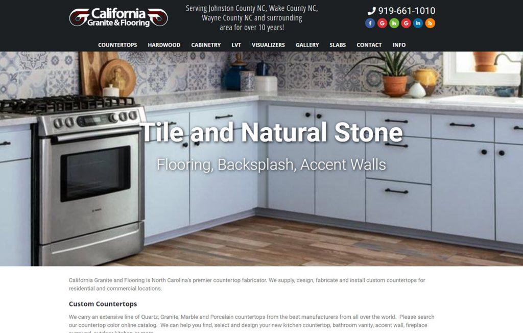 california tile wordpress website for countertop fabricators