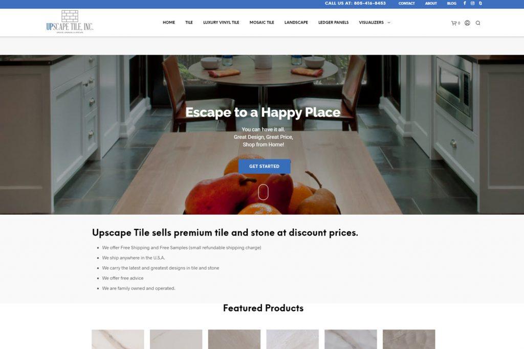 custom wordpress website for tile store