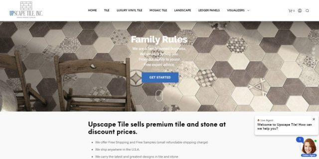 custom tile floor website