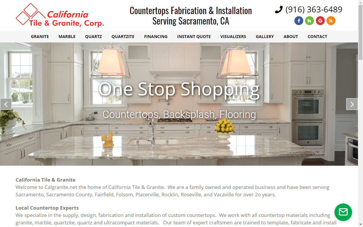 website for countertop businesses