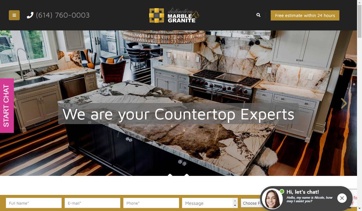 custom countertop website