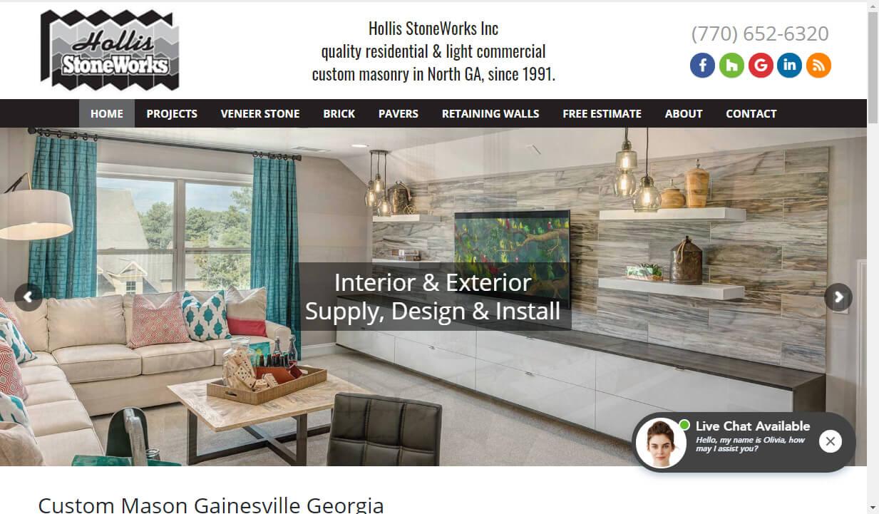 custom masonry website